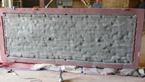 large sand mold brick wall