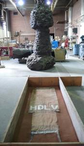 schnabel idota sand mold_KEATING_FOUNDRY_NYC_Fine_Art_Sand_Casting_1